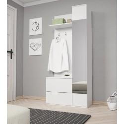 Garderoba YELLOW biały, dąb...