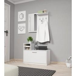 Garderoba MOON biały, dąb...
