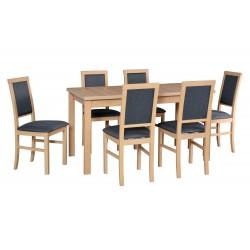 Zestaw stół ALBA 2 + 6x...