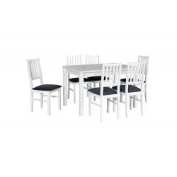 Zestaw stół MAX 5 biały +...