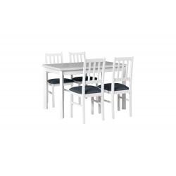 Zestaw stół MAX 5 P biały +...