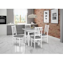 Zestaw stół MAX 7 biały +...