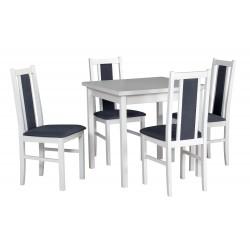 Zestaw stół MAX 9 biały +...