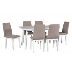Zestaw stół OSLO 5 biały+...
