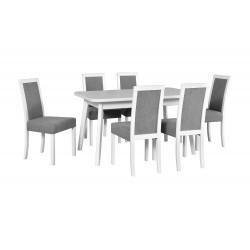Zestaw stół OSLO 6 biały +...