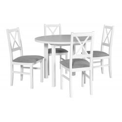 Zestaw stół POLI 2 biały +...